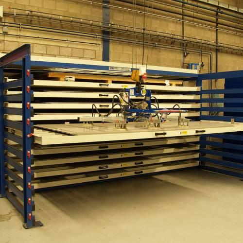 photo Rack à tiroirs : stockage de tôle